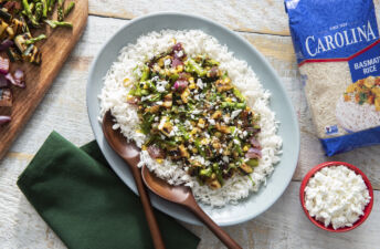 Grilled Summer Vegetable Rice Salad
