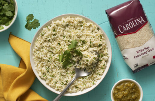 Salsa verde rice with white rice