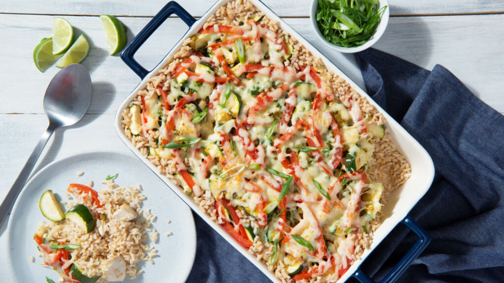 Chicken-and-Rice-Casserole-with-Zucchini-and-Bell-Peppers