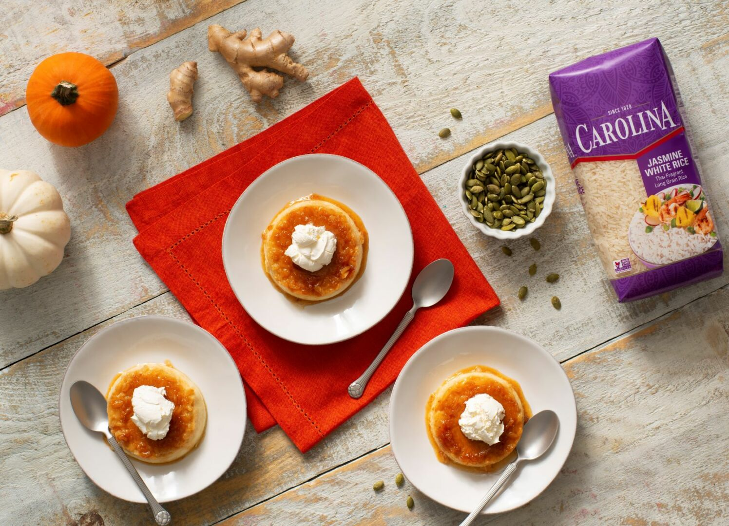 Ginger Pumpkin Rice Crème Caramel