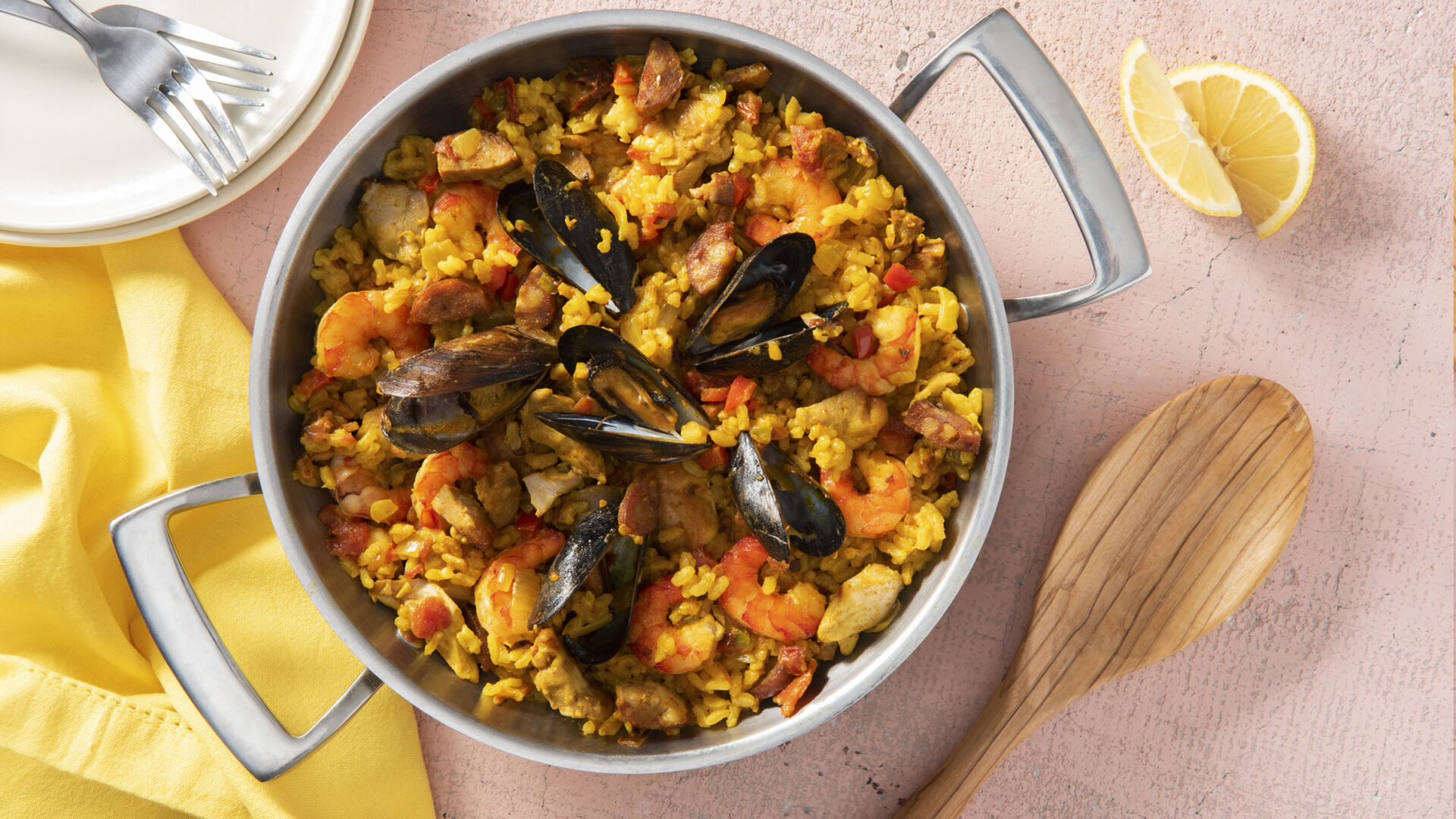 Mexican-Style Seafood Paella with ...