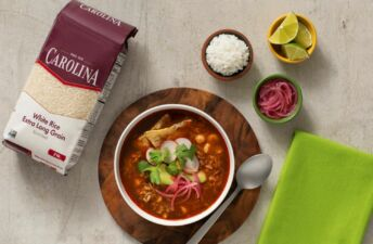 Red Pozole with Rice and pork