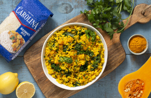 Turmeric-Yellow-Rice-with-Butternut-Squash-and-Kale