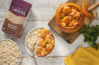 brazilian-stuffed-pumpkin-with-shrimp-served-over-brown-rice