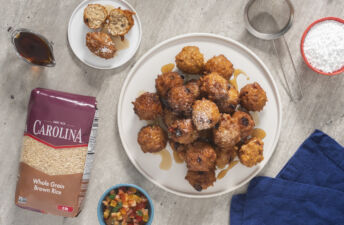 christmas-cake-brown-rice-fritters-with-rum-syrup