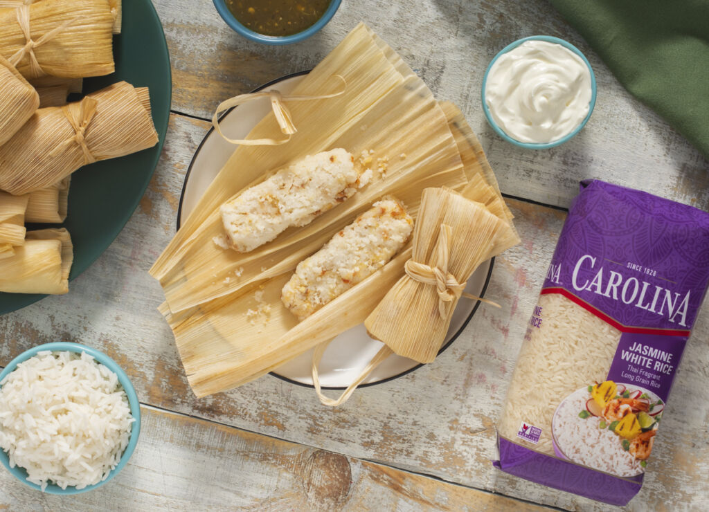 chorizo-rice-tamales-with-jasmine-rice-and-chorizo
