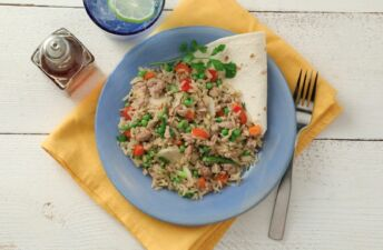 Ground turkey stir fried rice