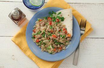 Ground turkey stir fried rice