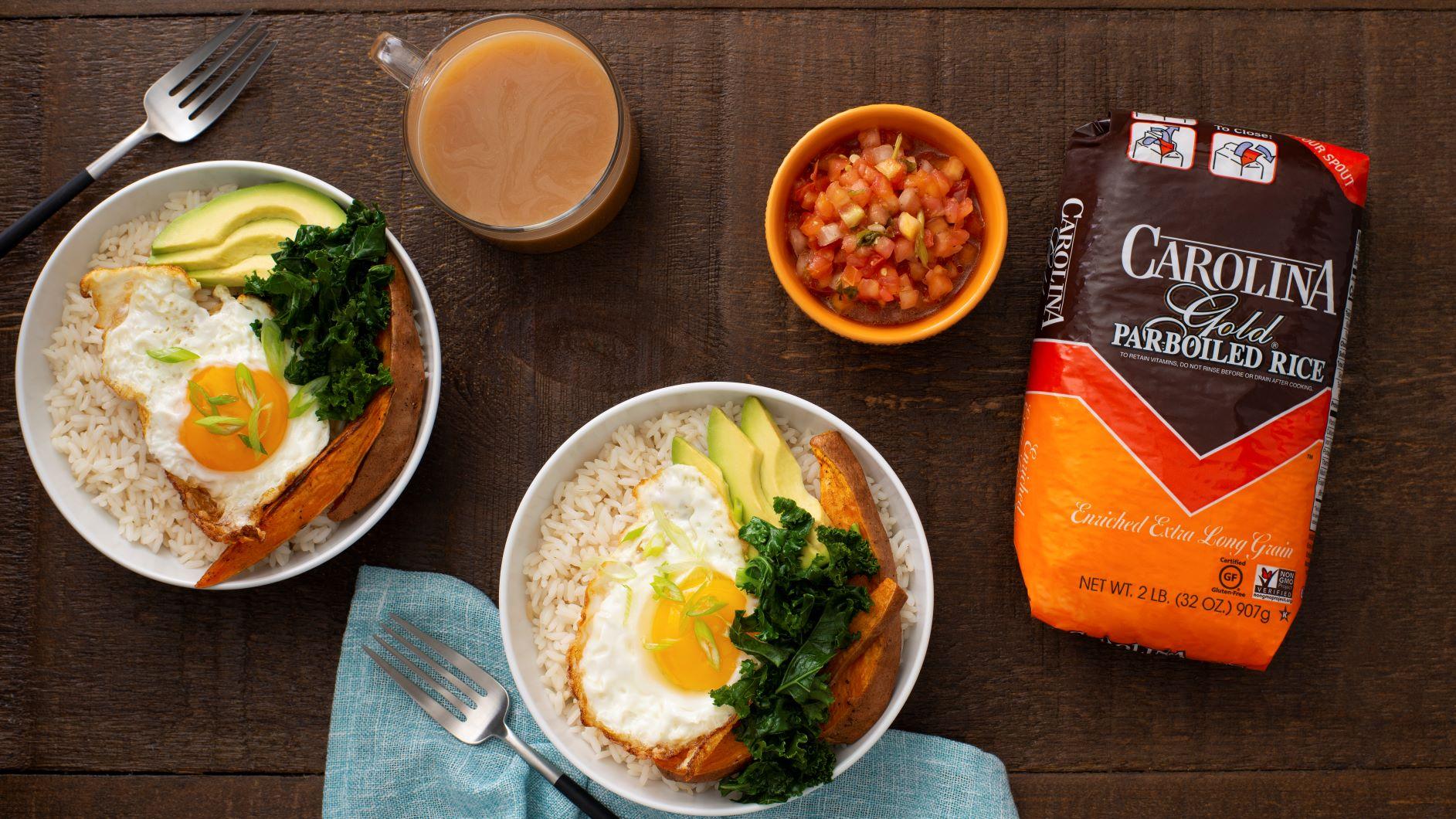 Bowl de desayuno con arroz
