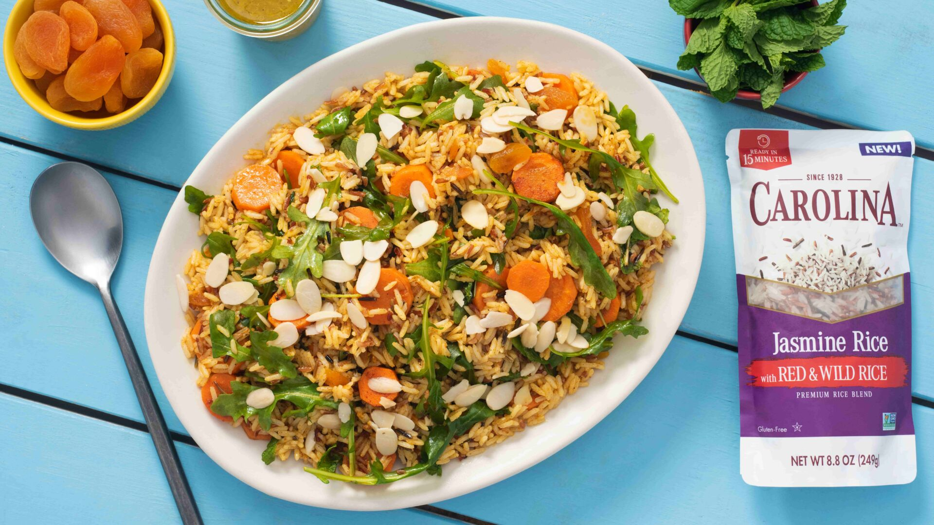 Ensalada marroquí con zanahorias y arroz salvaje