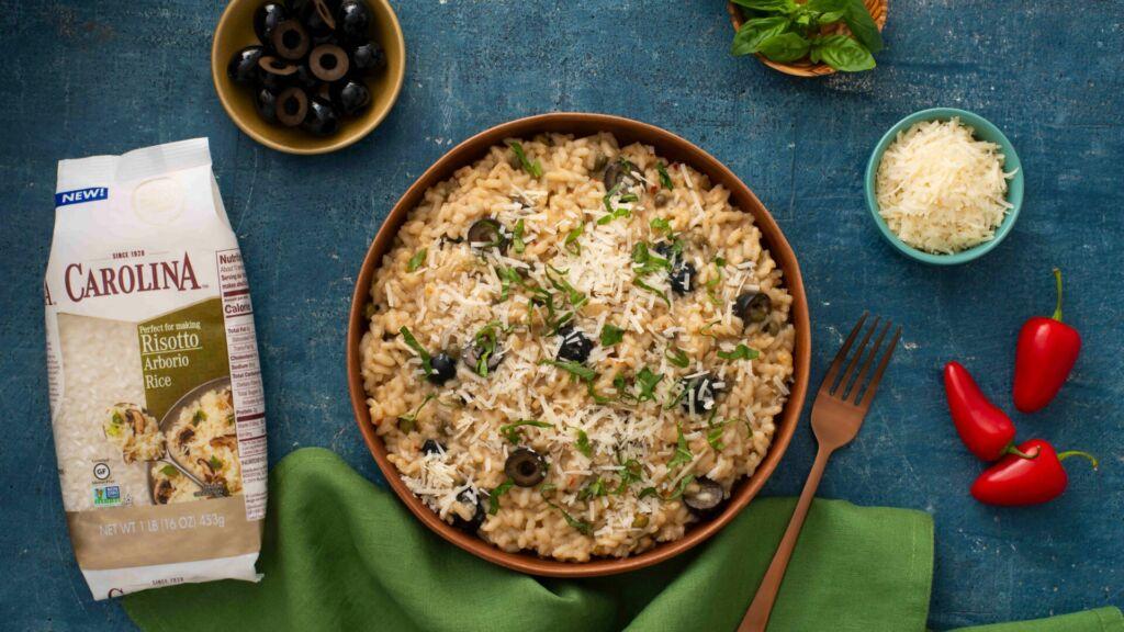 puttanesca-risotto-with-medium-grain-arborio-rice