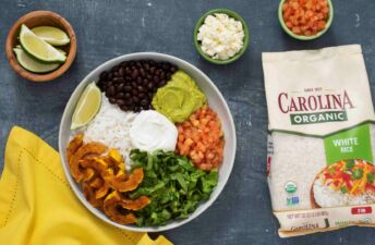 vegetarian-taco-bowl-with-organic-rice-roasted-butternut-squash-black-beans-and-guacamole