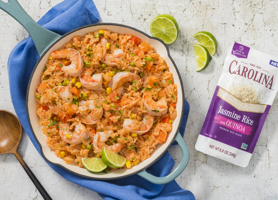 Mexican Rice and Quinoa with Shrimp