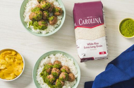 pork-meatballs-with-citrus-mojo-served-over-white-rice