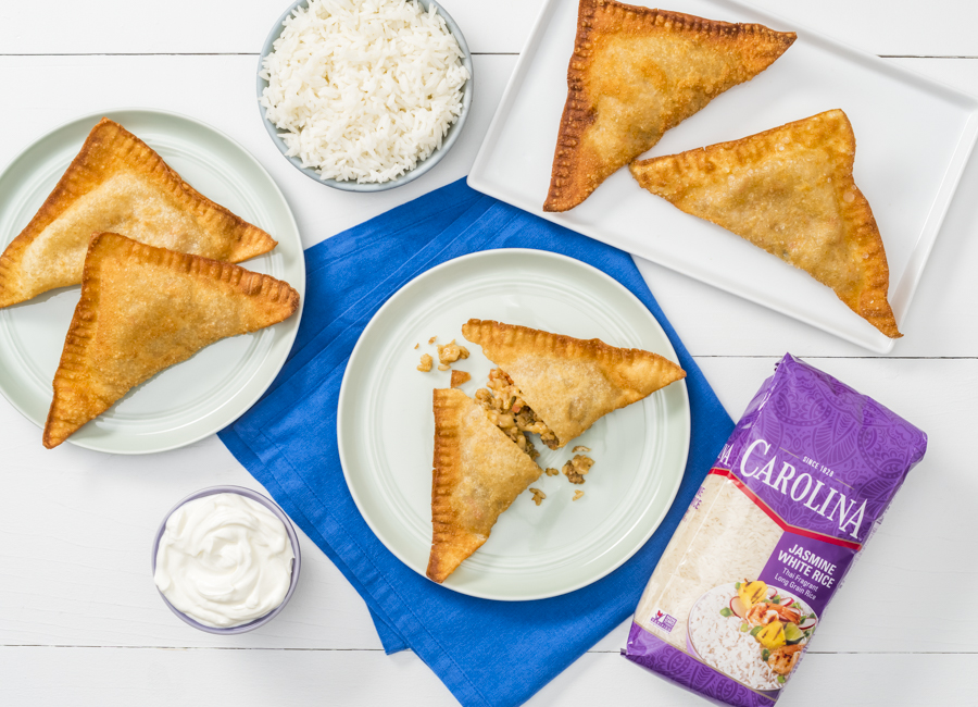 Cheesy Rice and Beef Empanadas