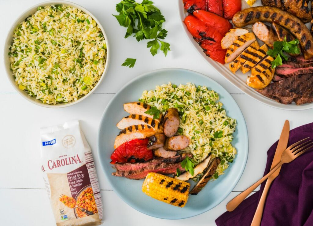 mixed-grill-with-chicken-steak-chorizo-and-vegetables-with-chimichurri-rice