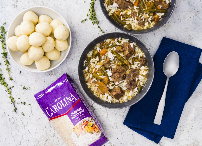 Sopa de arroz con fufu