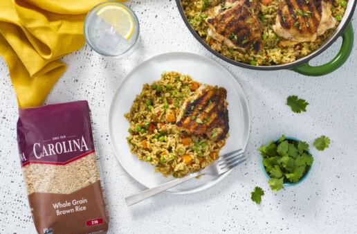Grilled-Chicken-with-brown-rice-Arroz-Verde