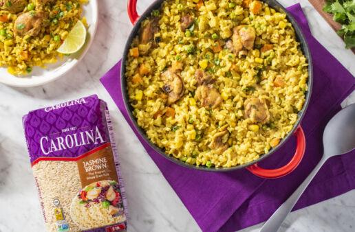 Peruvian-Arroz-Con-Pollo-with-jasmine-brown-rice