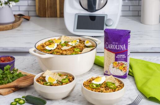 Thermomix-jasmine-rice-Empanada-Rice-Bowl